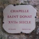 Plaque chapelle