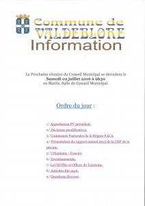 odj conseil municipal 02.07.16